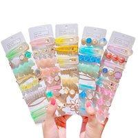 Fashion pearl children hair clips Mermaid princess girls bar...
