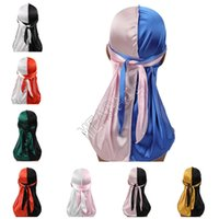 Patchwork Color Designers Durags Turban Shiny Silky Durag Ba...