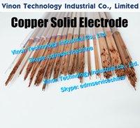 1.0x400MM cuivre massif électrode (200pcs / lot), Rod cuivre massif EDM électrode Dia 1,0 mm, longueur 400 mm utilisé pour Électroérosion Usinage