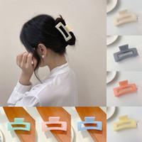 Мода прямоугольник акриловый когтя шпильки простые зажимы волос конфеты цвет девушки крабовые зажимы для волос для женщин аксессуары для волос