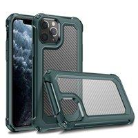 Funda a prueba de golpes de fibra de carbono más nueva para iPhone XS 11 Pro MAX XR 6 7 8 PLUS Bolsas de teléfonos móviles transparentes Ultra Crystal
