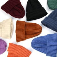 Classical Kids Simple Knit Caps Candy Colors Multi Solid Sty...