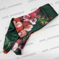 Diseñador de seda venda de embalaje caja de regalo de diseño para pelo de alta calidad hecha Diseñador diadema de flores tropicales Slik Cabeza Wraps