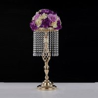 70cm Strass Candelabra Hochzeit elegante Kerzenhalter Hübsche Tabelle Center Vase stehen Kristall Kerzenständer Hochzeitsdeko EEA1906