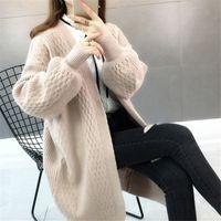desgaste 2009 desgaste da mola nova de colarinho V puro-color espuma manga de malha das mulheres suéter solto versão coreana CX200810 jaqueta