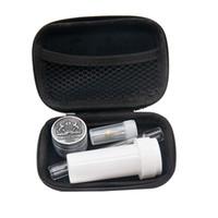 Tütün Çanta Seti Cam Sigara Boru Takımı Combo Cam One Hitter Akrilik Kavanoz Filtre Ağız İpucu Mini Öğütücü Çanta Set Sigara
