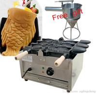 Nuovo uso commerciale Ice Cream Taiyaki Maker Pesce Waffle Machine Trasporto libero