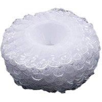 장식 꽃 화 환 6pcs 레이스 꽃다발 칼라, 칼라 DIY 홀더 결혼식 신부 흰색 장식
