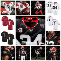 George Pickens 2020 조지아 불독 150 번째 저지 Herschel Walker James Cook Kendall Milton Darnell Washington NCAA College Football Jersey