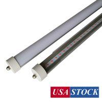 USA Stock R17D LED Tubes T8 8FT LED TUBE LED lumières AC85-277V 45W 6000-6500K Double broche SMD2835 8FT T8 R17D Porte de porte LED LED