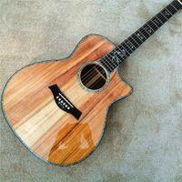 الحرة الشحن، وتجارة الجملة العرف 41 بوصة chaylor 916 KOA الجيتار، أذن البحر مطعمة خشب الأبنوس الأصابع KOA الغيتار،