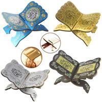Decoración para el hogar Objetos Eid Mubarak Book Biblia Soporte Estante de Lectura Rack Ramadán Para DIY Decoración Creativa