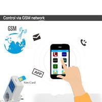 Freeshipping 16A GSM Socket SMS Potere fuori Allarme di uscita relè Smart Switch a distanza controllo intelligente del regolatore di temperatura del sensore