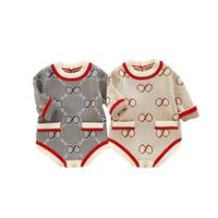 2020 new Autumn winter baby romper knitted sweater girls rom...