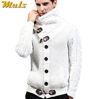 Erkek Kazakları 2021 Sonbahar Kış Marka Erkekler Hırka Kazak Kalınlaşmak Gevşek Fit Akrilik Sıcak Örme Erkek Sweatercoat Beyaz Siyah Muls M-4XL