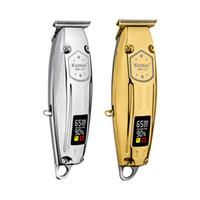 Wiederaufladbare Haarschneider Kemei KM127 LCD-Display 12W Leistungsstarker Motor Friseur Haarschnitt Clipper Friseur-Styling-Werkzeuge für Männer