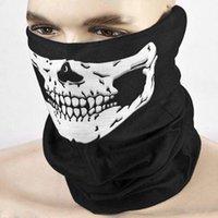 máscara del horror de Halloween unisex al aire libre de la motocicleta máscara de media cara exterior cráneo de la máscara sombrero tocado el cuello fantasma bufanda