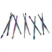 Радуга цвет нержавеющей стали Wax Dabber Инструмент чистые инструменты для сухих травы испарителей Glass Globe Атомайзер маникюрных принадлежностей