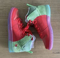 Authentische SB Dunk High Strawberry Cough Lila Reverse-Skunk 213/420 Basketball-Schuhe Männer Frauen Universität Rot Spinat Grüne Turnschuhe 36-47