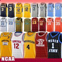 팝 훔치는 토니 7 Kukoc Ncaa Gonzaga Bulldogs 고등학교 존 12 Stockton Basketball Jersey Michigan Wolverines Chris 4 Webber University