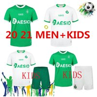 20 Maillot como saints-étienne crianças homem futebol jerseys casa fora adulto 2021 st etienne khazri boudebouz aholou homem conjunto de futebol