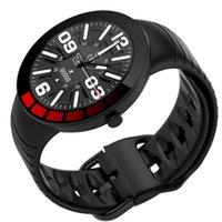 E3 스포츠 스마트 시계 남자 IP68 방수 전체 터치 스크린 실리콘 스트랩 Smartwatch 안드로이드 iOS 전화 피트니스 트래커