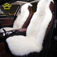 Luxe couverture de siège d'auto en peau de mouton universelle siège en peluche automne hiver intérieur Bâches enfants envoyer des cadeaux de coussin doux