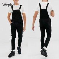 Мужские джинсы Wepple Модный ремень Джинсовые розыгрыши плюс размер разорвал брюки промытые повседневные черные карандашные брюки