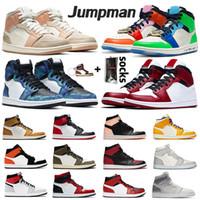 nike jordan retro 1 aj 1s jumpman 2020 وصل حديثا 1 1S شيكاغو تو أحذية منتصف ميلان صقيل عالي الأفعى رجل إمرأة كرة السلة الرجعية بلا خوف صبغ التعادل ليكرز المدربين أحذية رياضية