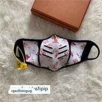 Mostrar enfriar París de lujo de cara anti-polvo máscaras de cuero tela máscara de impresión diaria