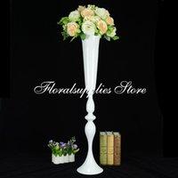 Düğün Centrepiece Vazo Masa Merkezi Pieces için 10pcs 35 İnç Tall Beyaz Çiçek Vazo Centerpieces