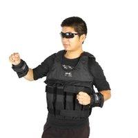 Maksimum 20KG / 50KG Ağırlıklı Yelek Ayarlanabilir Yükleme Ağırlığı Ceket Egzersiz Boks Eğitim Yelek Weightloading Yelek (Boş)
