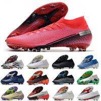 2021 Mens AG Chuteiras Futbol Ayakkabıları Süper Süper 7 Elite SE Yüksek Ayak Bileği Cleats CR7 Neymar Futbol Çizmeler Mercurial 13