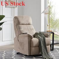 EU estoque Cadeira de elevação de alimentação de tecido macio sala de estar reclinável sala de estar sofá com controle remoto PP192501AAA