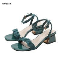 Woman sandals Summer black women's heels fashion Designer thick with shallow mouth Female High heels sexy banquet Pumps Big size