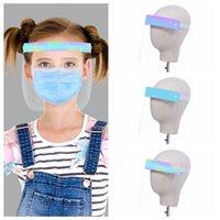 Los niños de aislamiento de seguridad careta niños Cubierta de la cabeza transparente contra la niebla que salpica la cara llena protectora transparente Máscaras de diseño RRA3408