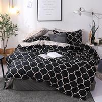 Bettwäsche-Set Super King Bettbezug Sets 3pcs Marmor Einzel Swallow Queen Size Schwarz Tröster Bettbezug Pillowcase 200x200