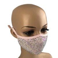 Алмазный пыле Мода Защитные Bling РМ2,5 Mouth Маски моющийся многоразовый Женщины Красочные Стразы маска для лица 151