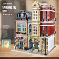 Moc 16001 StreetView Building Blocks The 10005 Shoes Shop Set Montage Modell Ziegel Bausteine Kinder Weihnachten Spielzeug Geschenk