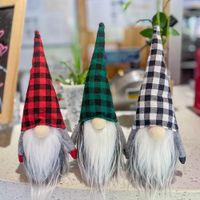 Рождество плед Cap Безликий Gnome Санта-куклы Подвеска Gnome Land Бог Куклы Рождественская елка висячие украшения куклы декора