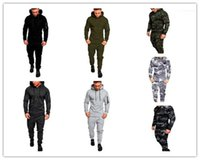 Plus Size Hooded Clothings Mens Designer Tracksuits Camouflage Print 2PCS Sets Mens Casual Suits Long Sleeve