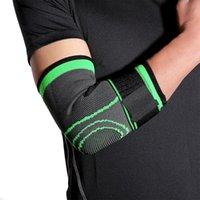 Ellbogen-Knie-Pads 2021 Atmungsaktive Verbandkompressionshülse-Brace-Trägerschutz für Gewichtheben Arthritis-Volleyball-Tennisarm