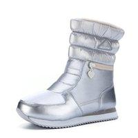 2020 kadın gümüş botları çizme serbest gemiyi alışveriş sıkı güzel kış botları sıcak kar ayakkabıları yüksek puanı yorumlar ışık