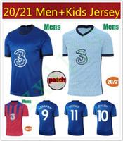 20 21 아브라함 축구 유니폼 Werner # 10 Ziyech 2020 2021 Willian Pulisic Football Shirt Lampard Kante Mount Mens Jersey Kids Kit