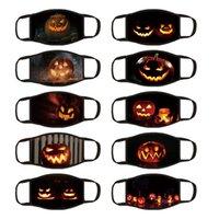 2020 Pumpkin Lantern Expression Pattern Halloween Black Mask 10 Styles Hanging Ear Cloth Mask Printing Dustproof Masks T3I51046
