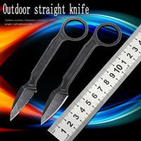Mini yarar CS EDC Bıçak açık taktik bıçak kamp av kendini savunma taşınabilir sabit bıçak karambit sağkalım