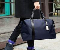 Alta calidad de los hombres bolsas de viaje para el equipaje de mano totalizadores gran capacidad portable del fin de semana ocasional de la PU + Nylon Duffle del recorrido para los hombres bolsos