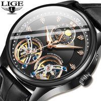 Saatı Lige 2021 Otomatik Mekanik İzle Erkekler Tourbillon Spor Saati Moda İş Erkek Saatler Reloj Automatico de Hombre