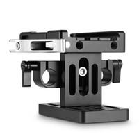 Freeshipping appareil photo reflex numérique Cage plaque de base (Manfrotto) + 15mm Rail System Quick Support plaque de presse trépied plaque de montage -2039
