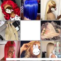 613 paquetes rubios Cabello virgen brasileño 613 Rubia recta del cabello humano Weave 3 paquetes con encaje frontal 13 * 4 cordones frontal oreja a oreja
